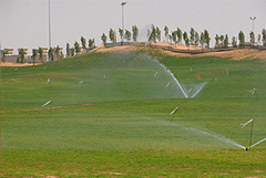 "Establishment and maintenance of the grass and landscaping with the use of their water conservation product ""Aqua-Feed"" in the soil profile"